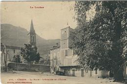 Lozère : Vébron, La Place, L'Horloge Et L'Eglise... - France
