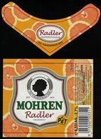 Autriche Lot 2 Etiquettes Bière Beer Labels Mohrenbräu Mohren Radler Grapefruit Pamplemousse PET - Bière