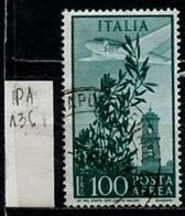 Italie - Italy - Italien Poste Aérienne 1955-59 Y&T N°PA136 - Michel N°943 (o) - 100l Olivier Et Clocher - 6. 1946-.. Republik