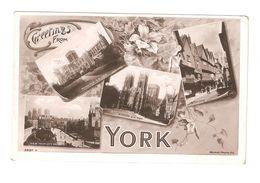 RP GREETINGS FROM YORK MULTIVIEW POSTCARD - York