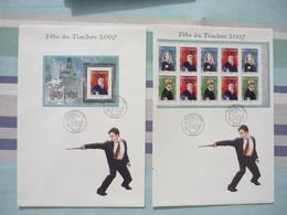 Collection D'enveloppes 1-er Jour Harry Potter Fête Du Timbre 10/03/2007 Camon + Carton D'invitation - Timbres