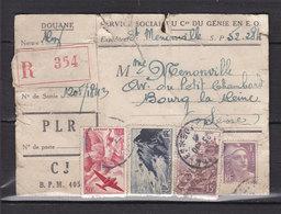 INDOCHINE DOUANE RECOMMANDEE OBL POSTE AUX ARMEES 405 23.10.45 SAIGON (CREE LE 23.10.45) DEFAUTS MAIS RARE - Indochina (1889-1945)
