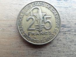 West Africa  25  Francs  1996  Km 9 - Otros – Africa