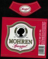 Autriche Lot 2 Etiquettes Bière Beer Labels Mohrenbräu Mohren Spezial - Bière