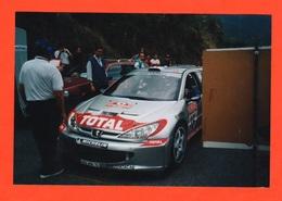 Rally Cars Peugeot 206 WRC Pilota Didier Auriol Rally San Remo Foto Originale - Automobili