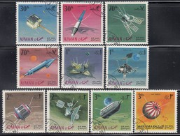 AJMAN 1968 - MiNr: 257-266 Komplett  Used - Raumfahrt