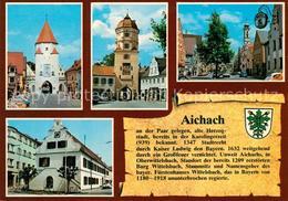 73255132 Aichach Unteres Tor Oberes Tor Stadtplatz Mit Heiliggeist Spitalkirche - Aichach
