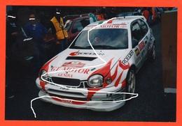 Rally Cars Toyota Corolla Di Longhi E Baggio Rally San Remo 2001 Foto Originale - Automobili