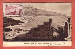 ALGERIE CARTE MAXIMUM TIPASA DE 1955 TIPASA - Algeria (1924-1962)