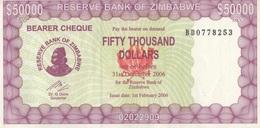 Zimbabwe / 50 000 Dollars / 2006 / P-30(a) / UNC - Zimbabwe