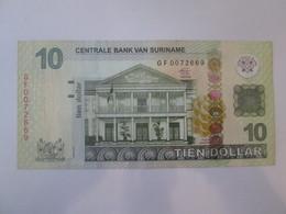 Suriname 10 Dollar 2012 Banknote In Very Good Conditions - Surinam