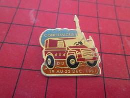 812G Pins Pin's  / Rare Et De Belle Qualité / THEME AUTOMOBILE : CONCESSIONS 4x4 DU 19 AU 22 12 1991 - Pin's