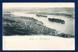 Gruss Von Rüdesheim Am Rhein. Vue Prise Du Niederwalddenkmal. Ca 1900 - Ruedesheim A. Rh.