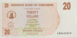 Zimbabwe / 20 Dollars / 2007 / P-40(a) / UNC - Zimbabwe