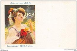 Illustrateur. N° 45433 . Calendrier 1909 . P.gervais . Collection Job . Publicitaire . Genre Mucha . Cigarette - Illustrateurs & Photographes