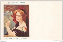 Illustrateur. N° 45434 . Calendrier 1911 . P.gervais . Collection Job . Publicitaire . Genre Mucha . Cigarette - Illustrateurs & Photographes