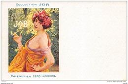 Illustrateur. N° 45443 . Calendrier 1908 . G.rochegrosse . Collection Job . Publicitaire . Genre Mucha . Cigarette - Illustrateurs & Photographes