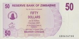 Zimbabwe / 50 Dollars / 2007 / P-41(a) / UNC - Zimbabwe
