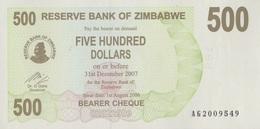 Zimbabwe / 500 Dollars / 2007 / P-43(a) / UNC - Zimbabwe