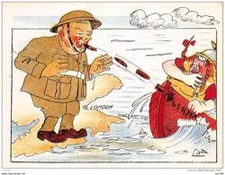 Politique . 39/45.n° 46488. Churchill.caricature.cirque. Illustrateur Asti.14x10.5 Cm. - Satiriques