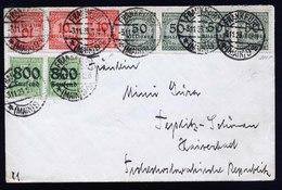 A6173) DR Infla Brief Frankfurt 03.11.23 Teplitz-Schönau - Deutschland