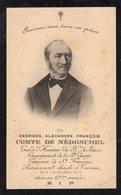VP14.844 - TOURNAI 1901 - Faire - Part De Décès De Mr G.A.François Comte De NEDONCHEL Garde D'Honneur Du S.C. De Jésus - Obituary Notices