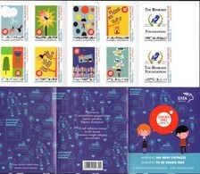 GREECE , 2019,MNH, CHILDREN AND STAMPS, SMOKE FREE GREECE, HEALTH, OWLS, BOOKLET - Gesundheit