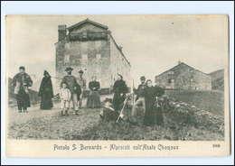 U6661/ Piccolo S. Bernardo  Alpinisti   AK Italien/Frabkreich Ca.1900 - Ohne Zuordnung