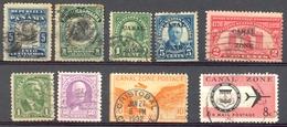 Panama - Canal Zone - 1909/1865 - Lot Timbres Oblitérés - Nºs Stampworld 19/22/55/59/69/70/79/87/160 - Zona Del Canal