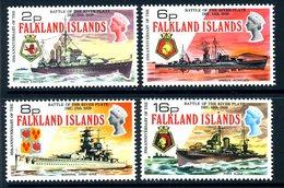 Falkland Islands 1974 Battle Of The River Plate Set Of 4, MNH, SG 307/10 - Falkland