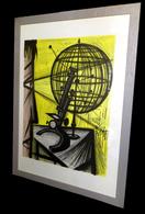 [MICROSCOPE SPHERE ARMILLAIRE] BUFFET (Bernard) - Lithographie ''avant La Lettre''. - Lithographies