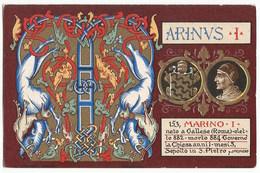 Litografia 153 Papa Marino I - Marinus I - #Cartolina #Personaggi #Collezionismo - Papas