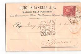 17409 ZUANELLI OPIFICIO STIA CASENTINO - MILANO X SPOLETO - Storia Postale