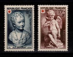 YV 876 & 877 N** Croix Rouge 1950 Cote 6 Euros - Francia