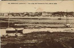 Pornichet (174), Vue Prise Des Rochers Du Port, Près La Jetée, Jolie Carte Malgré Un Trou De Punaise - Pornichet