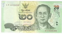 Thailand 20 Baht 2013-2016 P118 UNC - Tailandia