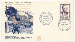 FRANCE - 10 Enveloppes FDC Héros Résistance 1961, Cachets 1er Jour, Illustré Héros Résistance Et 2x Divers - 1960-1969