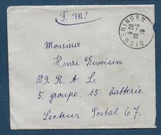 BAS RHIN - Cachet Provisoire De DIEMERINGEN Sur Enveloppe En Franchise - Postmark Collection (Covers)