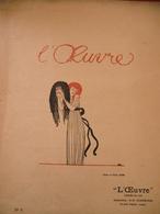 PROGRAMME AVRIL 1909 DU THEATRE L'OEUVRE DESSIN PAUL IRIBE - Programmes