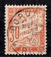France Timbre Taxe YT N° 34 Oblitéré. B/TB. A Saisir! - Taxes