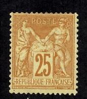 France Sage YT N° 92 Neuf (*). B/TB. A Saisir! - 1876-1898 Sage (Type II)