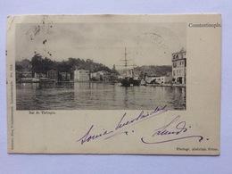Turkey Türkei Turquie ~ 1900, Constantinople, Bai De Thérapia, Used, Mixed Issues, Swiss Belgique, Luzern Briefträger - Turkije