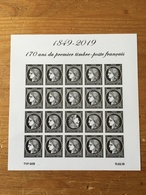 (2019) - 1849-2019 170 Ans Du Premier Timbre-poste Français (Cérès Noire) - Blocs & Feuillets