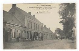 2 - Westvleteren  Le Secrétariat Communal - Gemeentesekretariaat Et La Route De Poperinghe - Vleteren