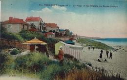 Pornichet (184), La Plage Et Les Chalets De Bonne-Source, Jolie Carte Colorisée - Pornichet