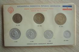 SET COMPLETO MONETE DELLA JUGOSLAVIA DINARI 1953 1955 NARODNA BANKA BEOGRAD BELGRADO - Jugoslavia