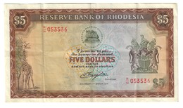 Rhodesia 5 Dollars 01/03/1976 - Rhodesia