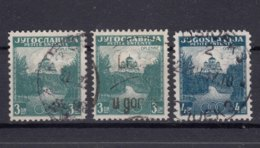 Yugoslavia Kingdom 1937 Mi#334-335 Used, First Stamp In Both Perforation (A And B) - 1931-1941 Königreich Jugoslawien