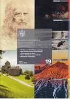 Liechtenstein / 2 / 2019 / Moon Landing, Leonardo Da Vinci / Philatelic Postage Stamps Prospectus, Leaflet, Brochure - Literatura
