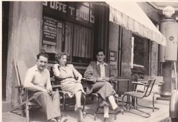 Alb Photo Originale Trois Ponts Café Station Essence Pompe Shell Buffet Dubonnet Affiche La Mascotte - Plaatsen